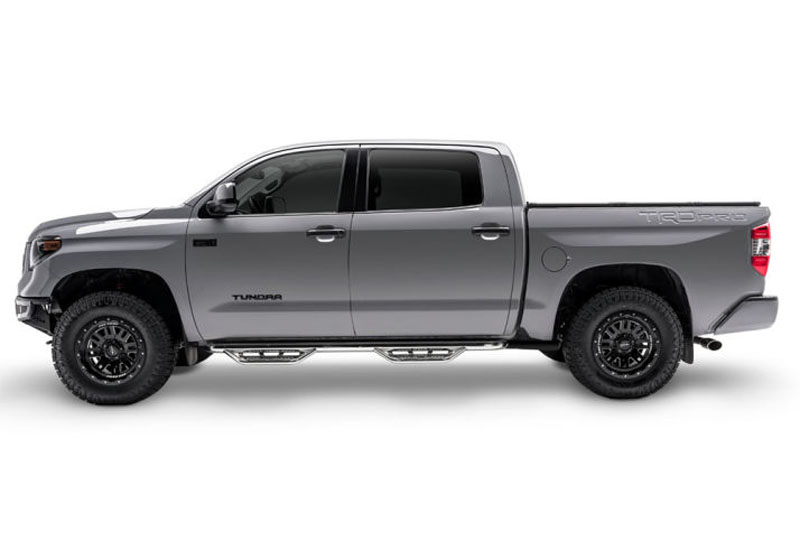 N-Fab HPT1580CC-SS Podium SS Polished Stainless Cab Length Toyota Tacoma Double Cab All Beds 05-18