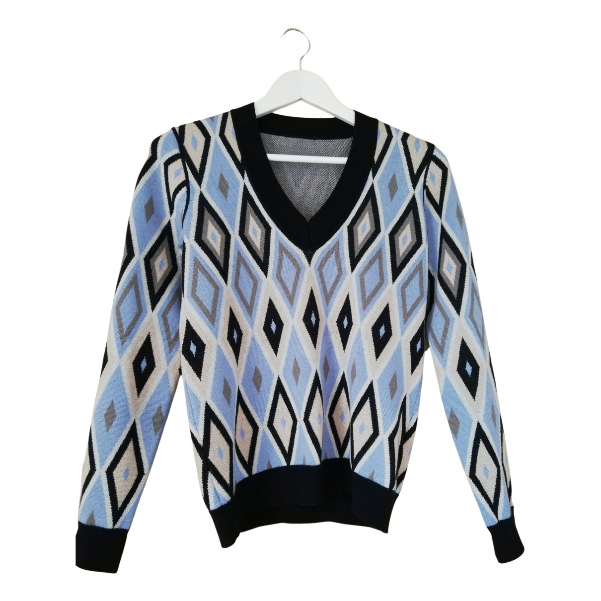Giorgio Armani N Blue Wool Knitwear for Women 38 FR