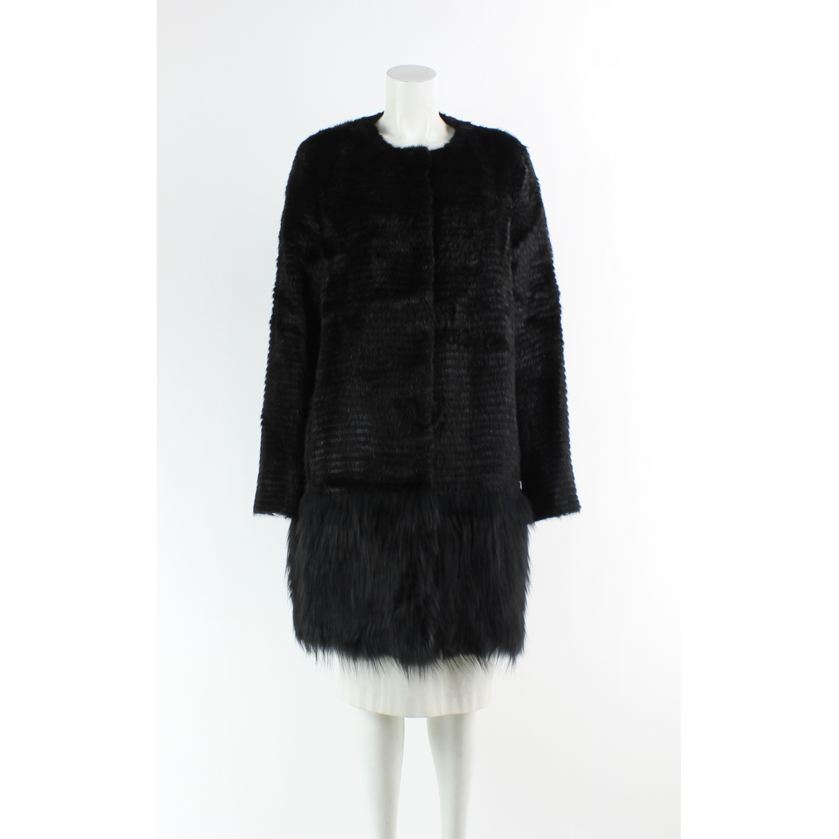 Yves Salomon \N Black Fur coat for Women 42 FR