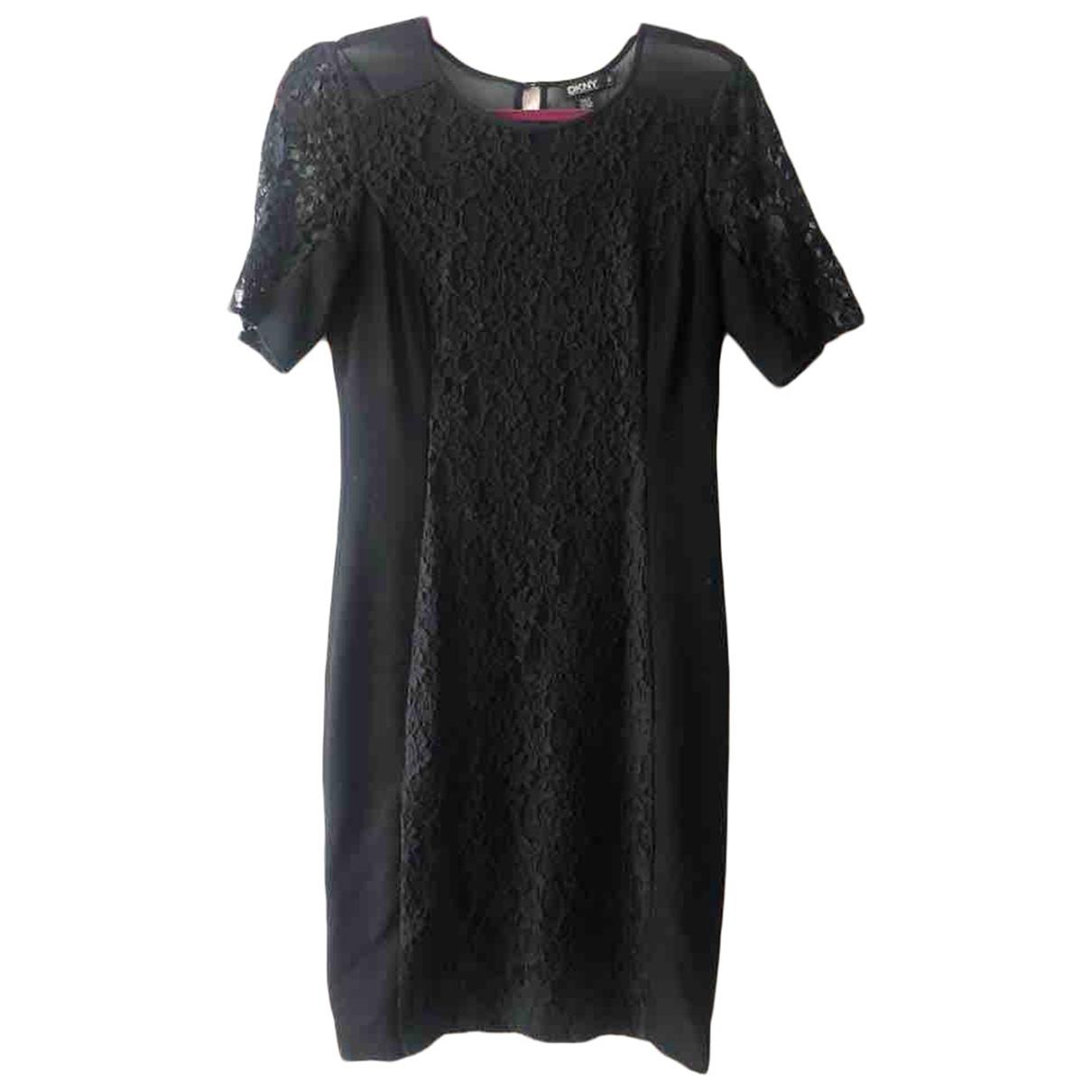 Dkny - Robe   pour femme en coton - noir