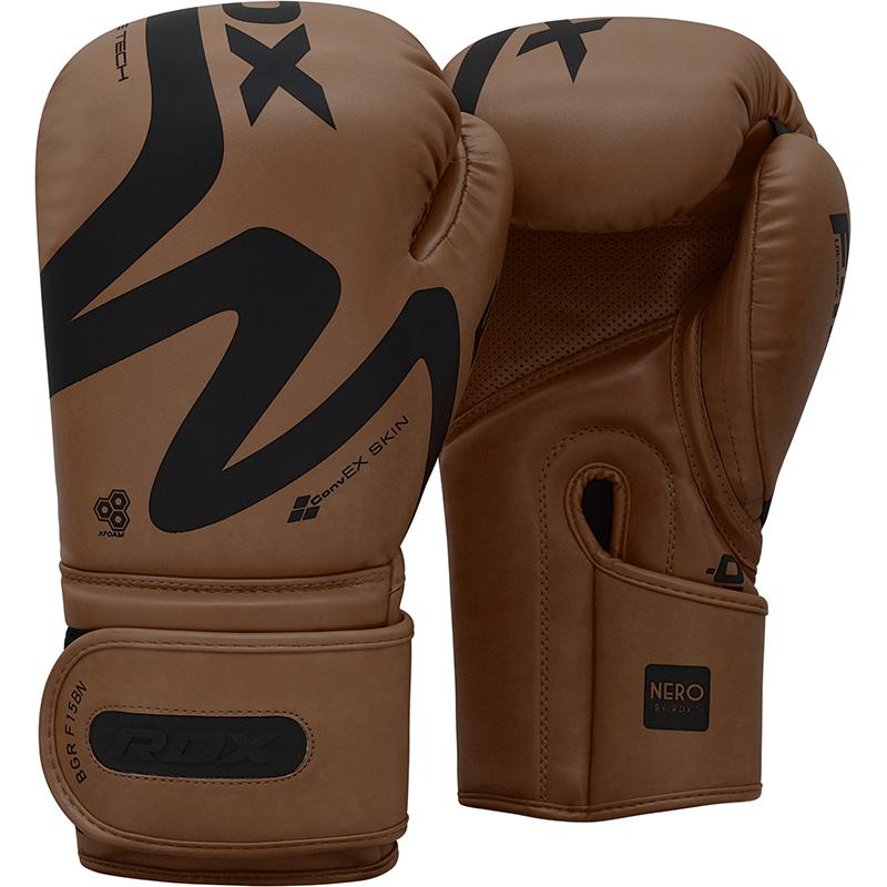 RDX F15 Trainings Boxhandschuhe fuer Beginners 14oz Braun/Schwarz