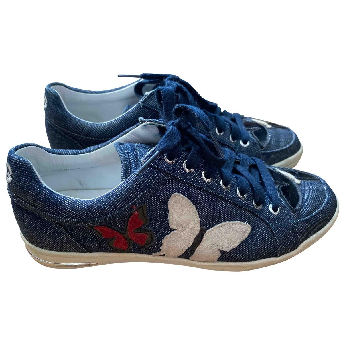 D&g \N Sneakers in  Blau Leinen