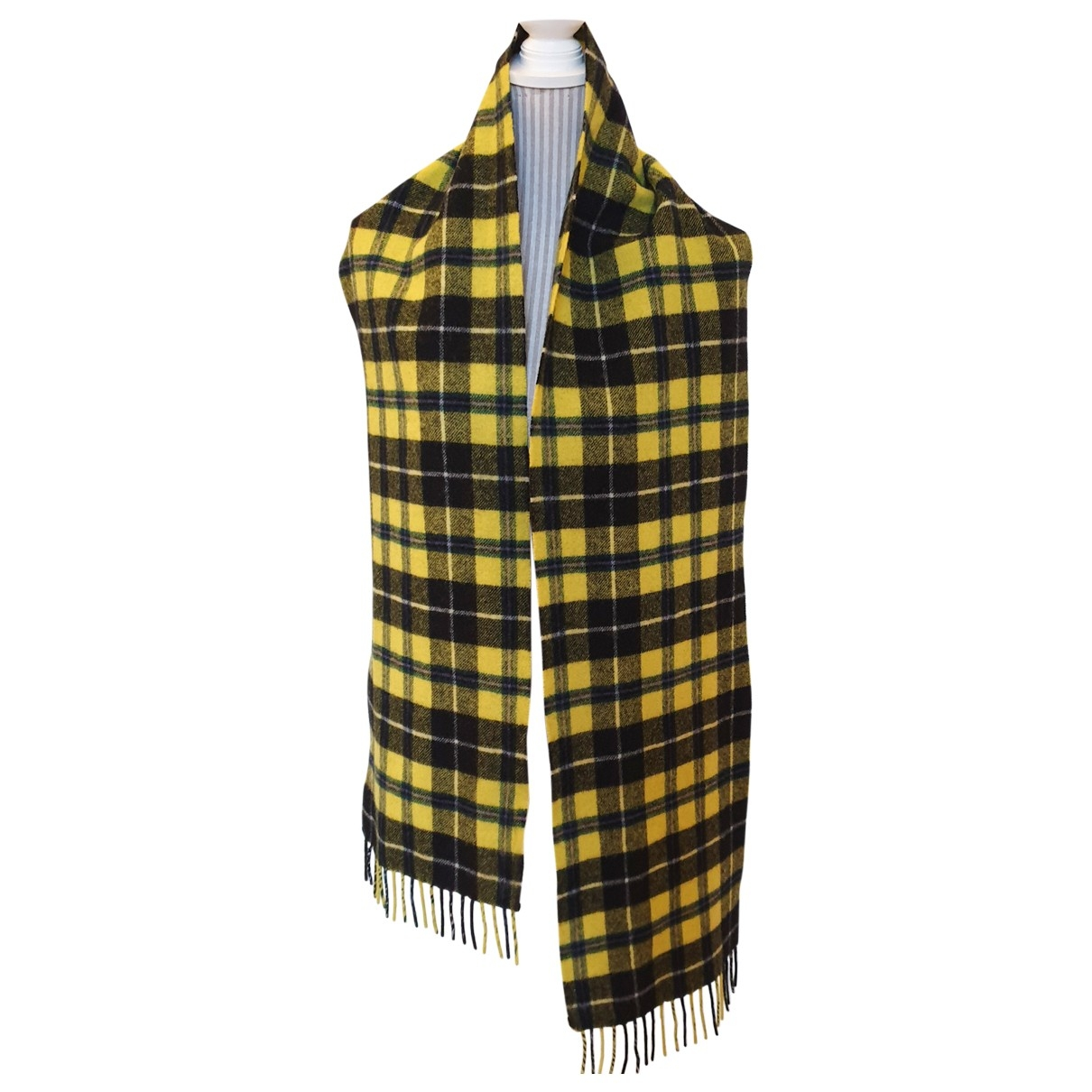 Weekday \N Yellow Wool scarf & pocket squares for Men \N