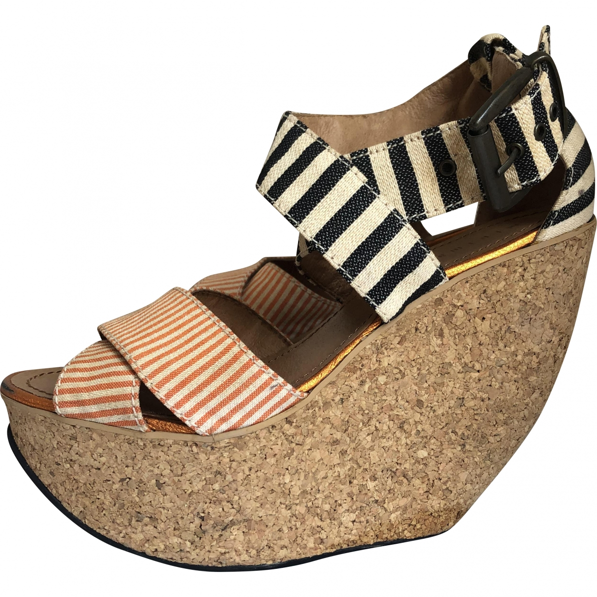 Minimarket \N Multicolour Cloth Heels for Women 38 EU