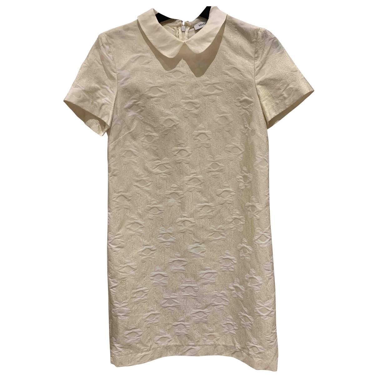 Max & Co \N White Silk dress for Women 40 IT