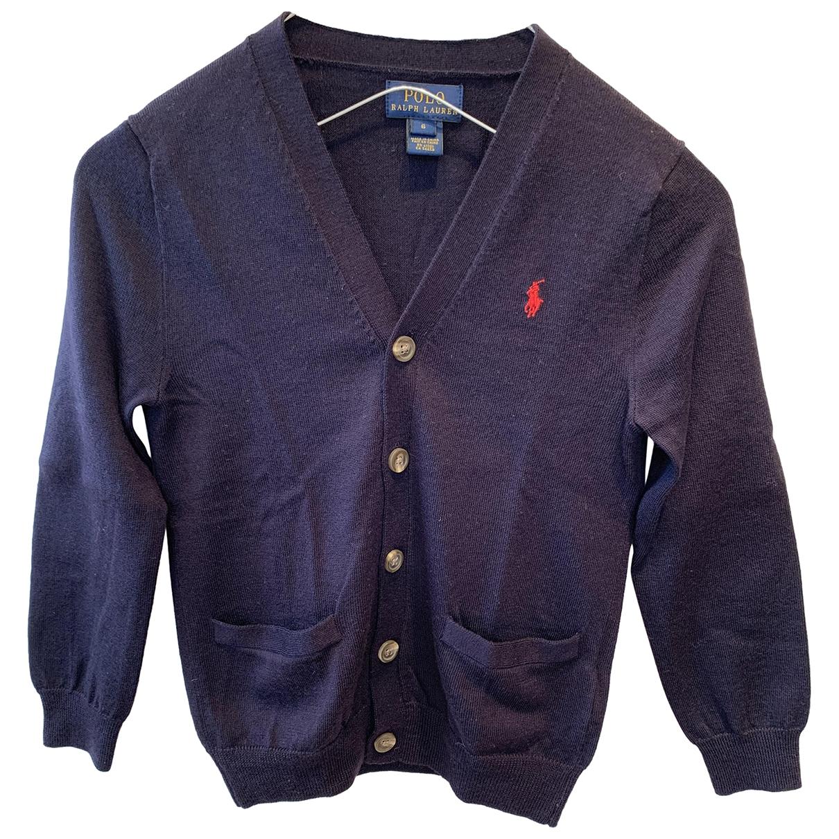 Polo Ralph Lauren - Pull   pour enfant en laine - bleu