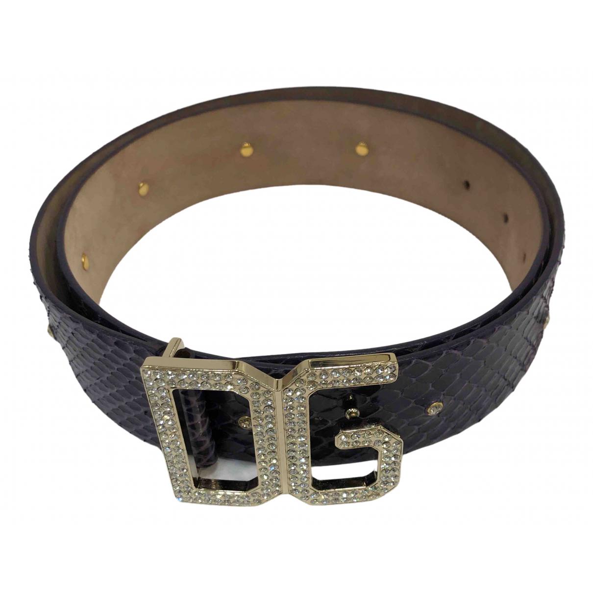 Dolce & Gabbana \N Guertel in  Lila Leder