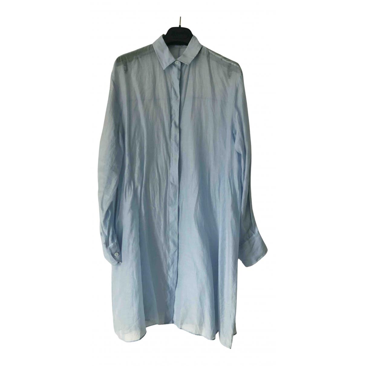 Jil Sander \N Kleid in  Blau Baumwolle