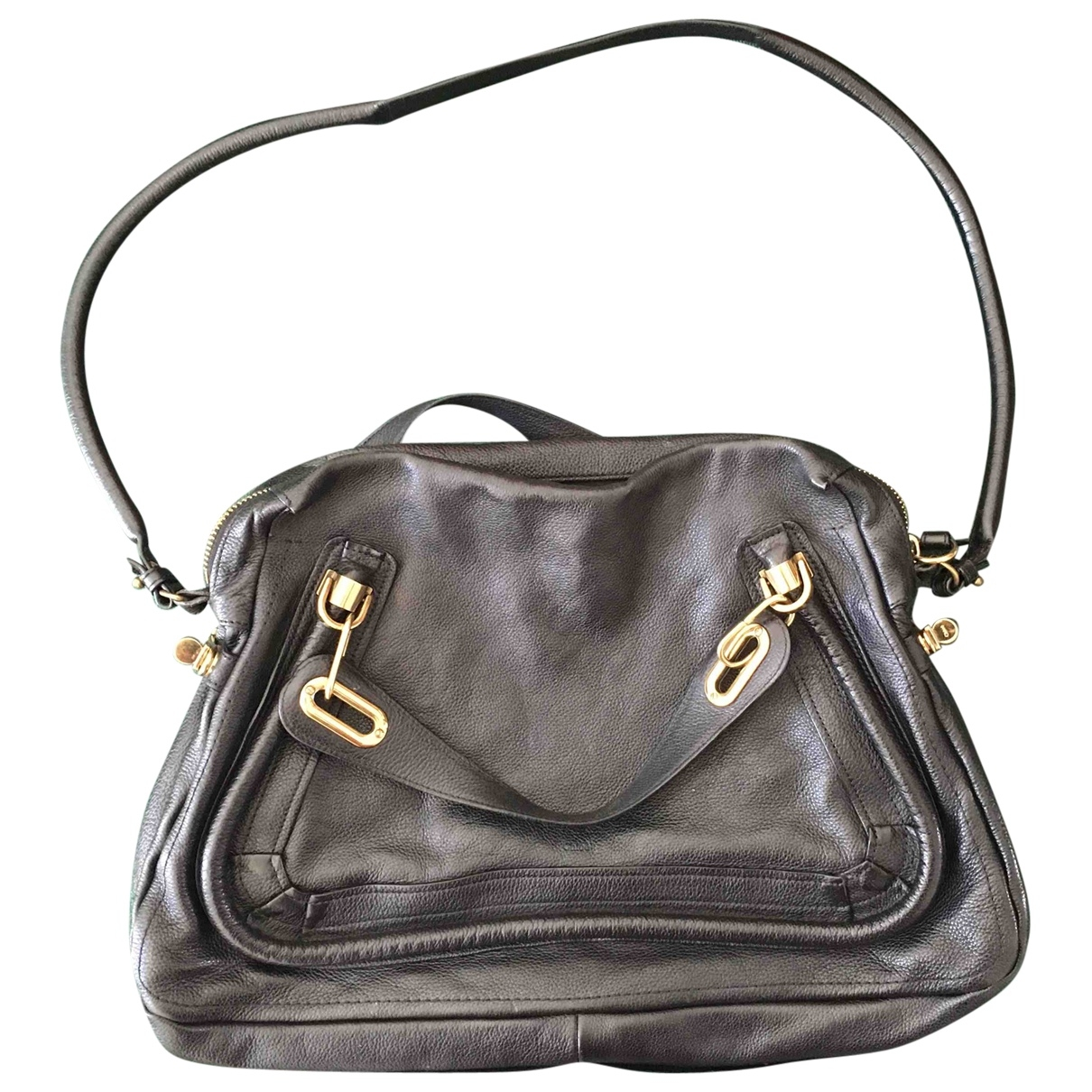 Chloe Paraty Handtasche in  Schwarz Leder