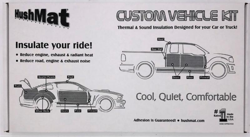Hushmat 72400 Complete Vehicle Custom Insulation Kit