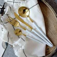 2 Stuecke Loffel & 1 Stueck Gabel & 1 Stueck Messer