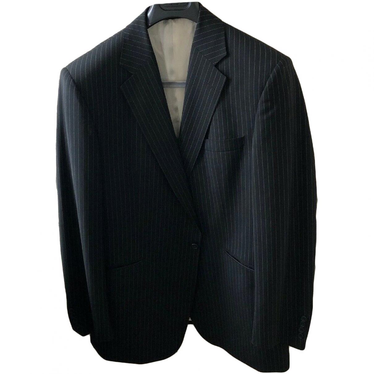 Aquascutum \N Navy Wool jacket  for Men 54 IT
