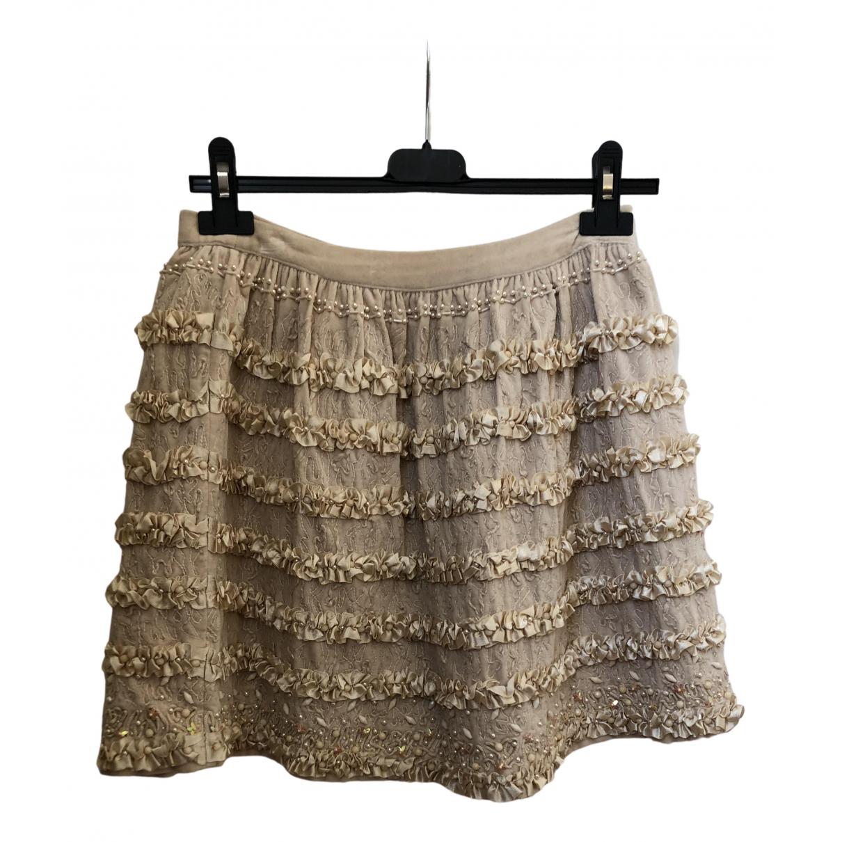 Manoush N Beige Glitter skirt for Women 36 FR