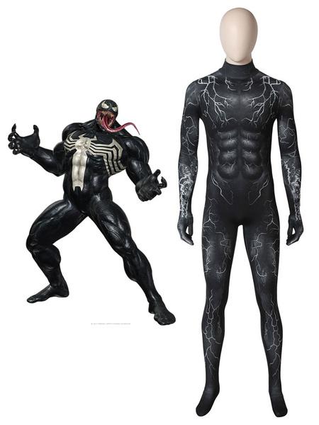Milanoo Marvel Comics Venom 2020 Movie Eddie Brock Halloween Cosplay Cosume Zentai Suit