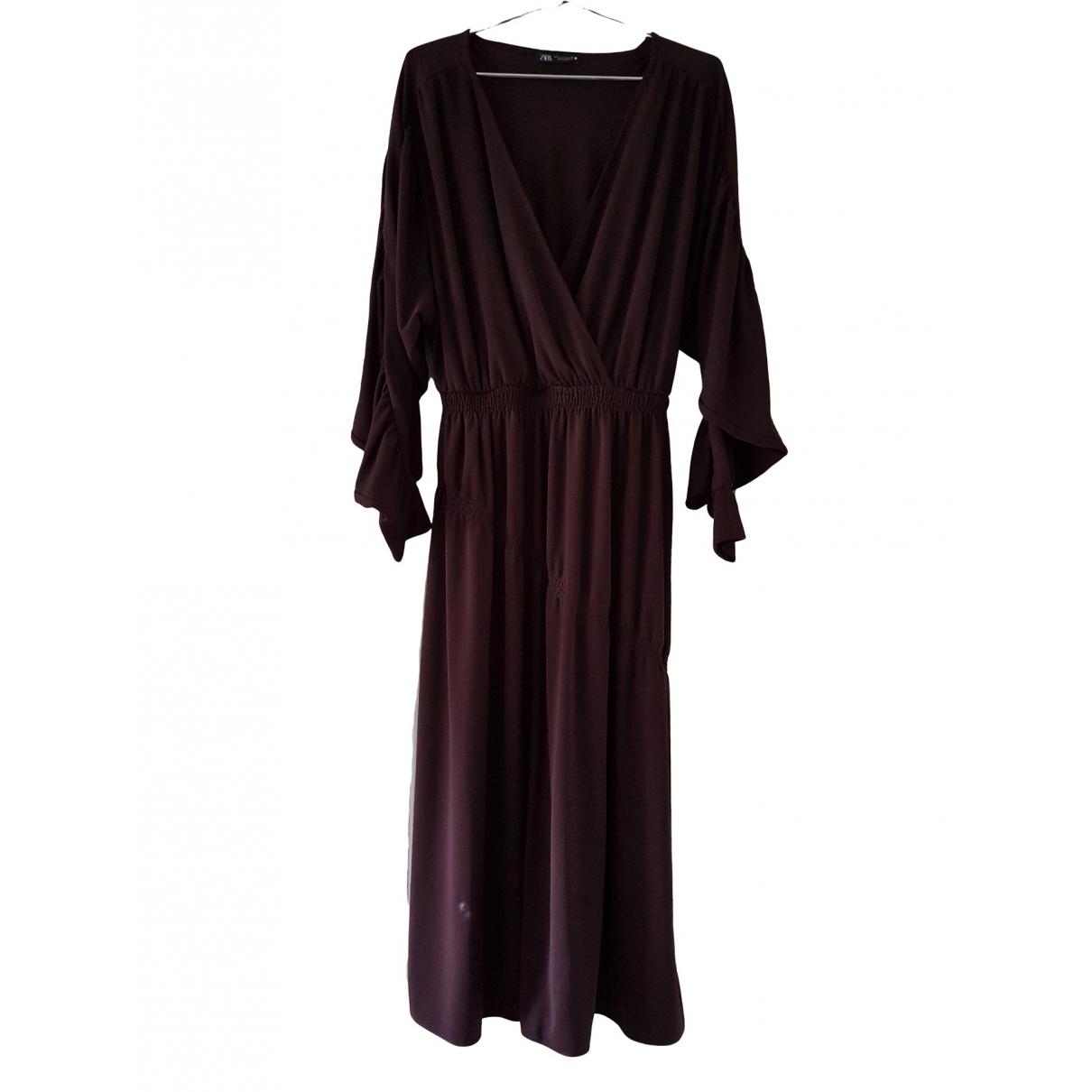 Zara \N Kleid in  Braun Polyester
