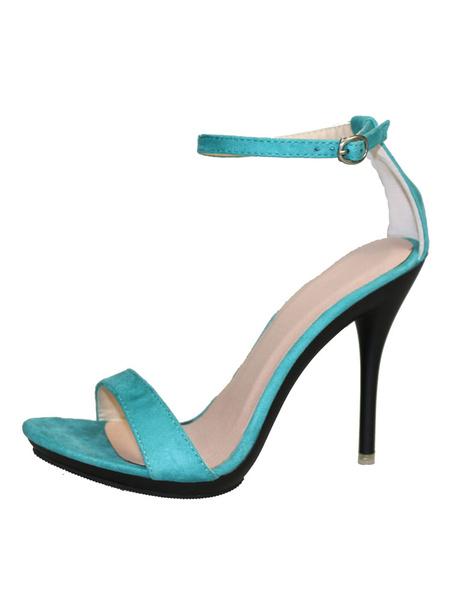 Milanoo Sandalias de puntera abierta Color liso para fiesta de tacon de stiletto estilo moderno Sandalias para mujer