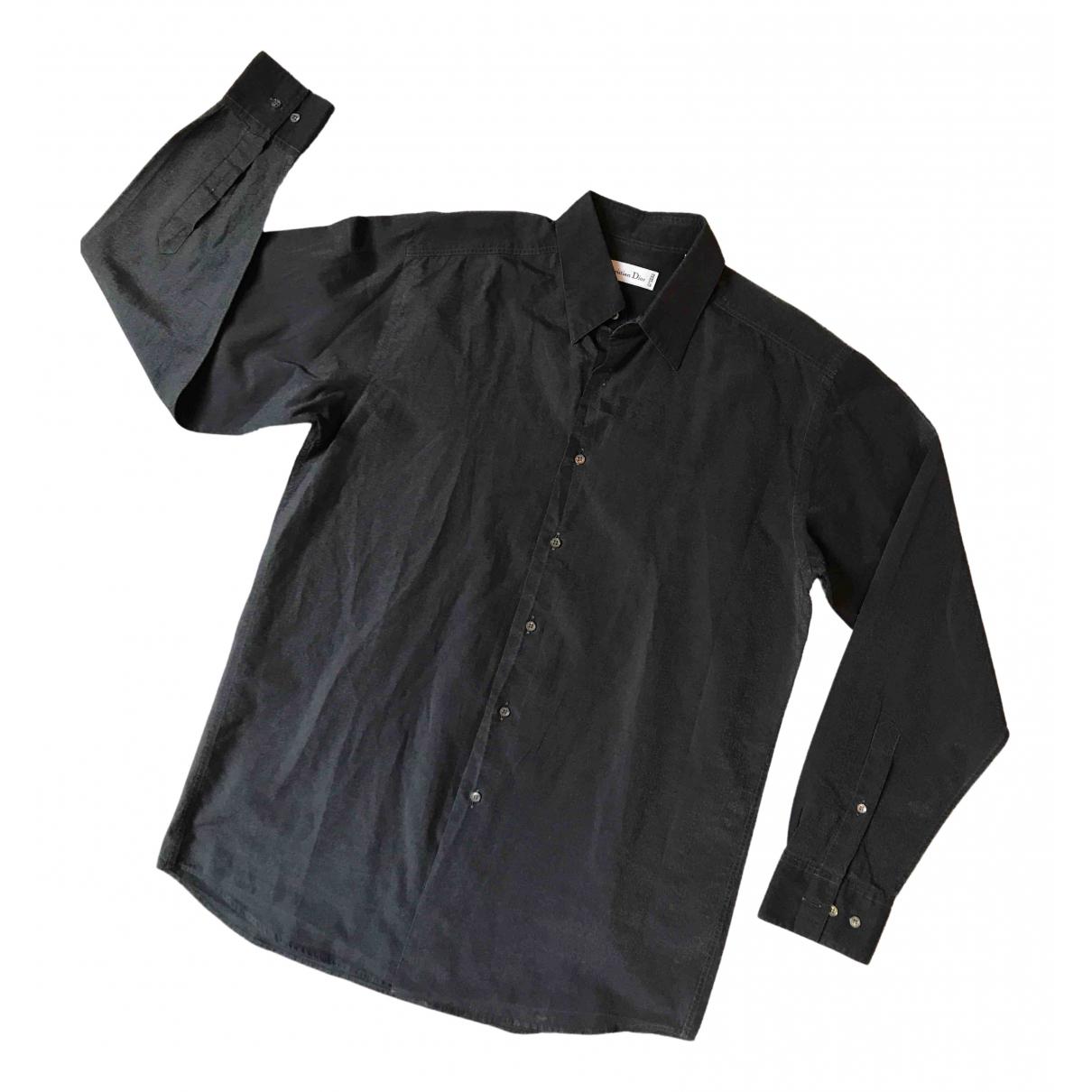 Dior - Chemises   pour homme en coton - anthracite