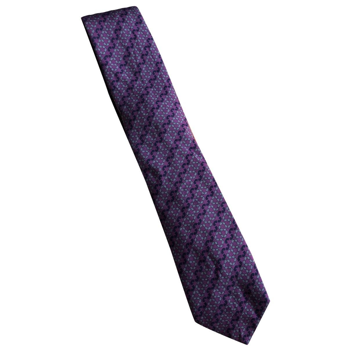 Hermes \N Krawatten in  Lila Seide