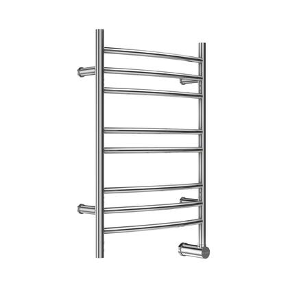 W328TSSB W328 8-Bar Wall Mounted Electric Towel Warmer with Digital Timer in Stainless Steel
