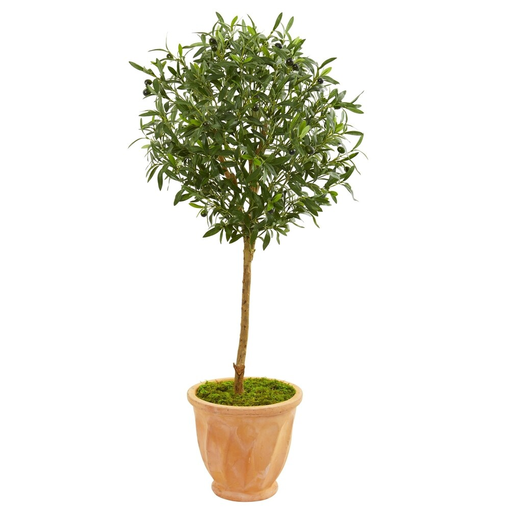 Nearly Natural 4-foot Olive Artificial Tree in Terra Cotta Planter