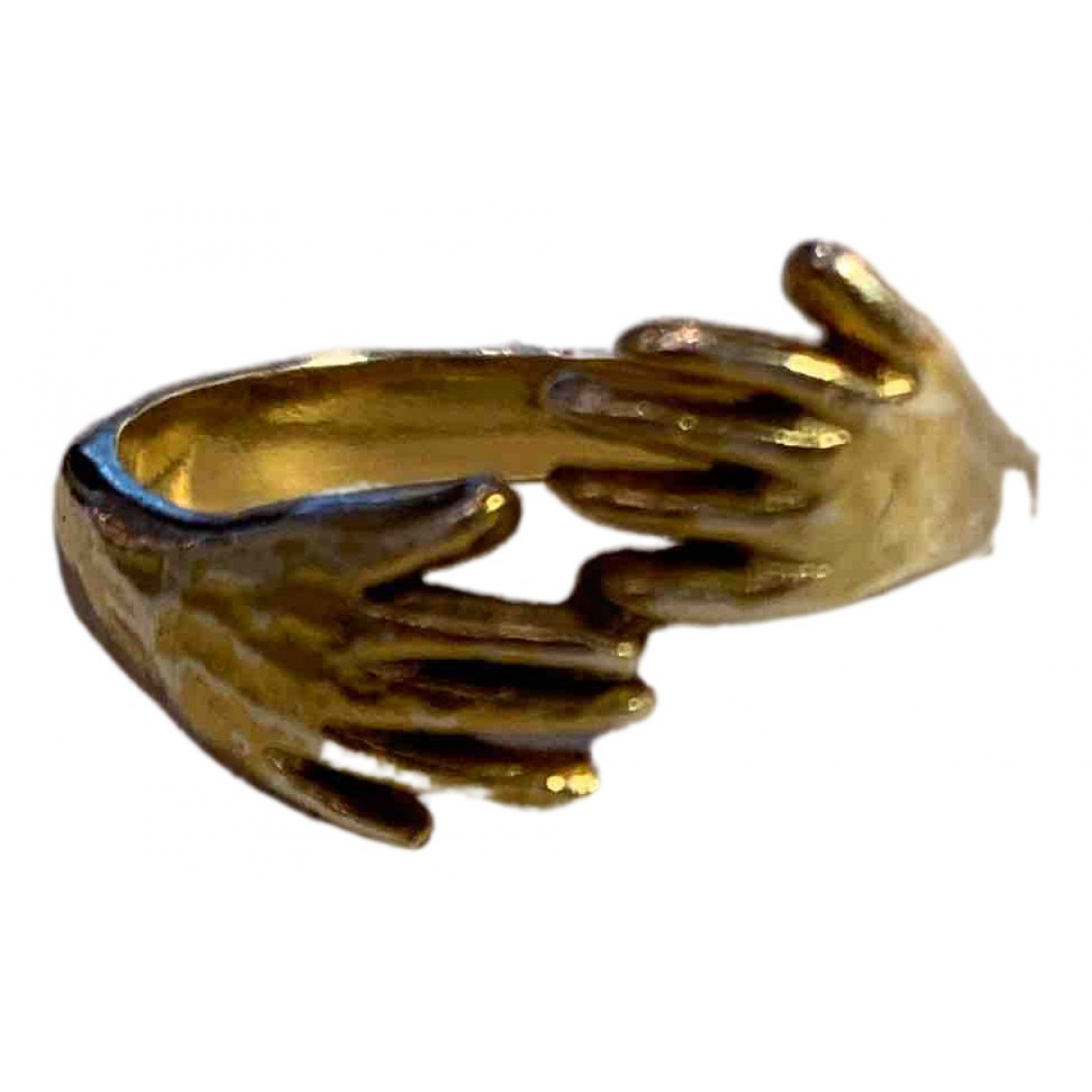 Non Signe / Unsigned \N Ring in  Gold Metall