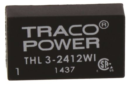TRACOPOWER THL 3WI 3W Isolated DC-DC Converter Through Hole, Voltage in 9 → 36 V dc, Voltage out 12V dc