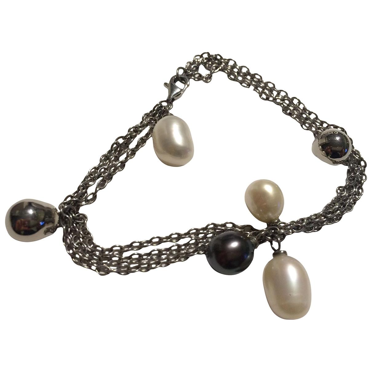 - Bracelet Nacre pour femme en acier - argente