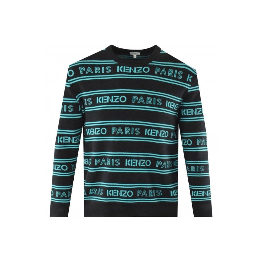 Kenzo All Over Knit Colour: BLACK, Size: MEDIUM