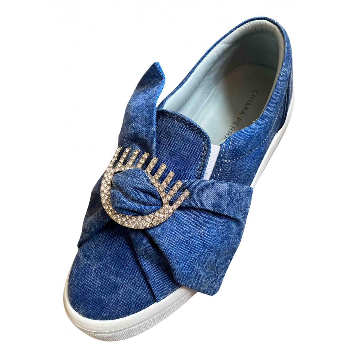 Chiara Ferragni \N Blue Cloth Trainers for Women 40 EU