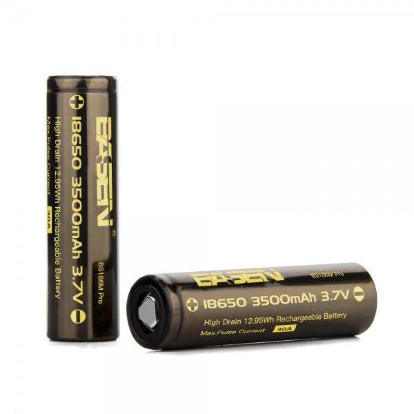 BASEN BS186M Pro 2 Pcs 18650 Battery 3500mAh 30A Rechargeable Li-ion Battery For Camping Hunting Cycling