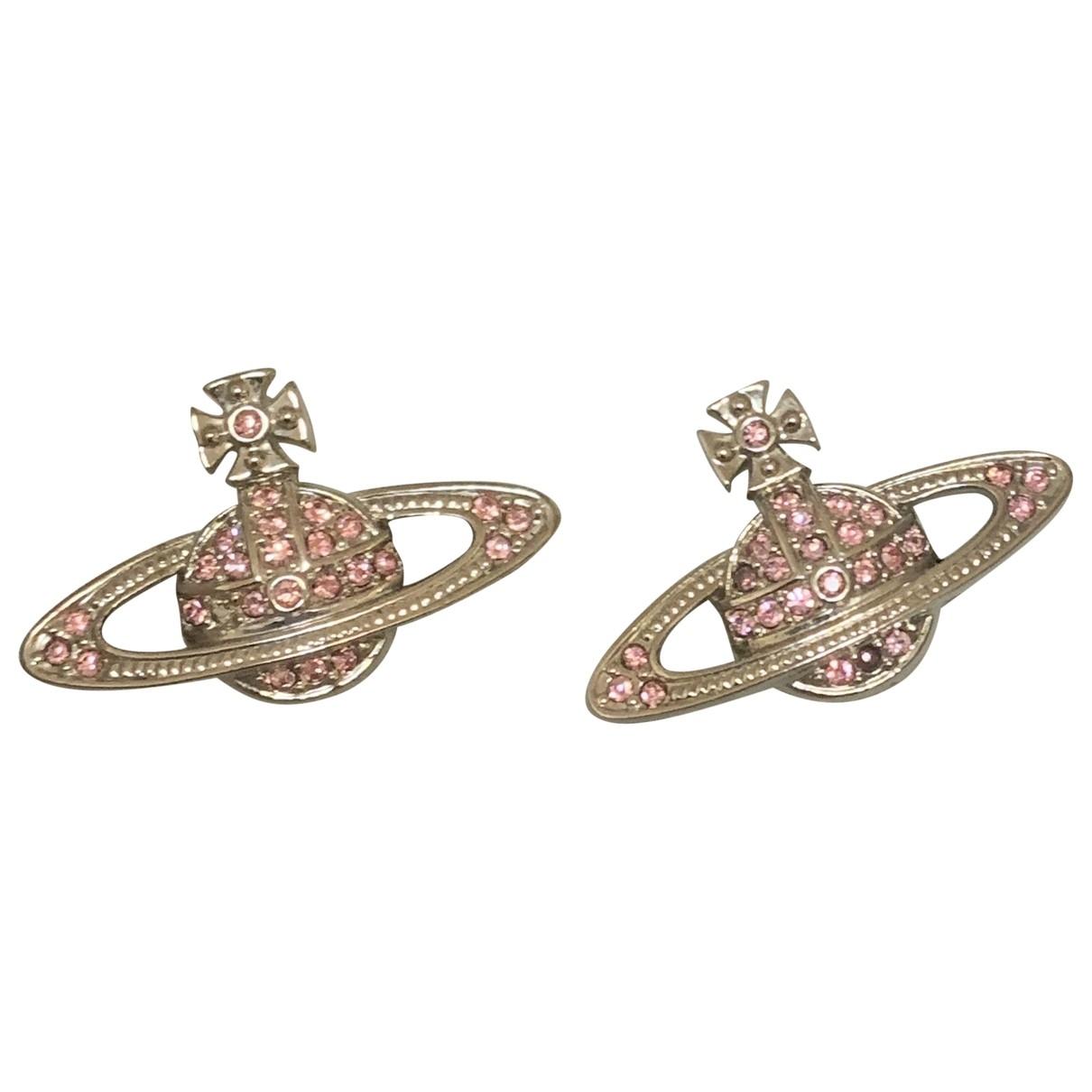 Vivienne Westwood - Boucles doreilles   pour femme en argent - rose