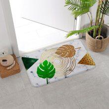 Alfombra de piso con estampado de hoja