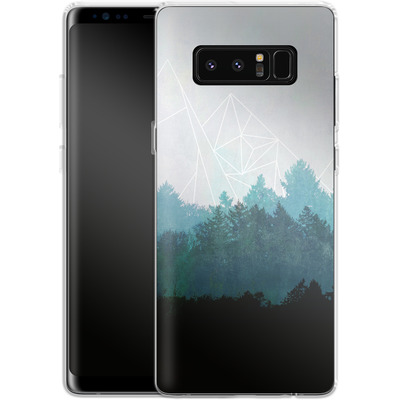 Samsung Galaxy Note 8 Silikon Handyhuelle - Woods Abstract von Mareike Bohmer