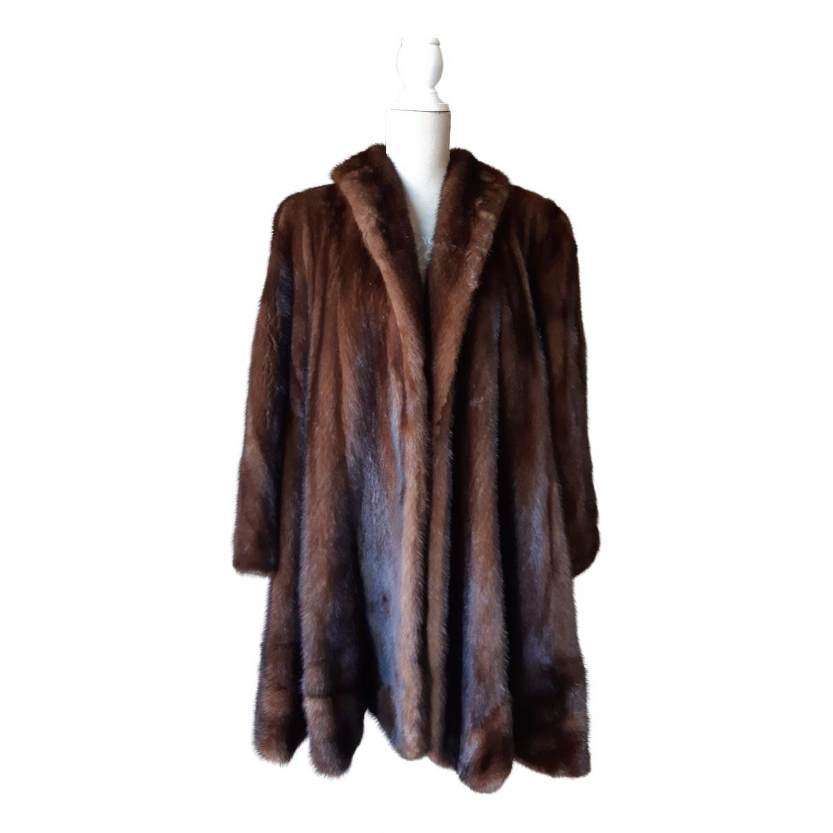 - Manteau Oversize pour femme en vison - marron