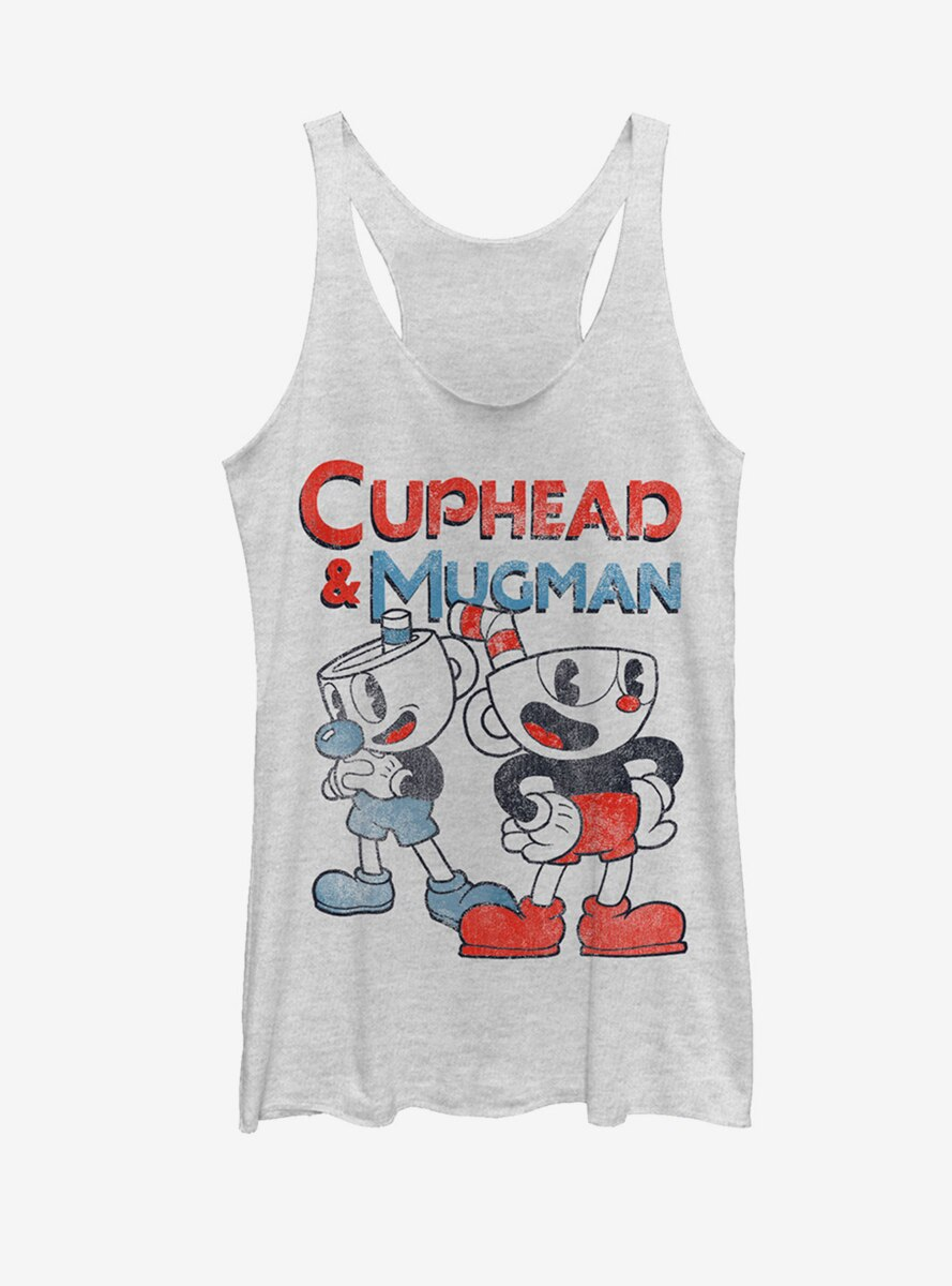 Cuphead Best Friend Mugman Womens Tank