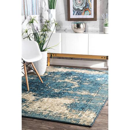 nuLoom Vintage Lindsy Rug, One Size , Blue