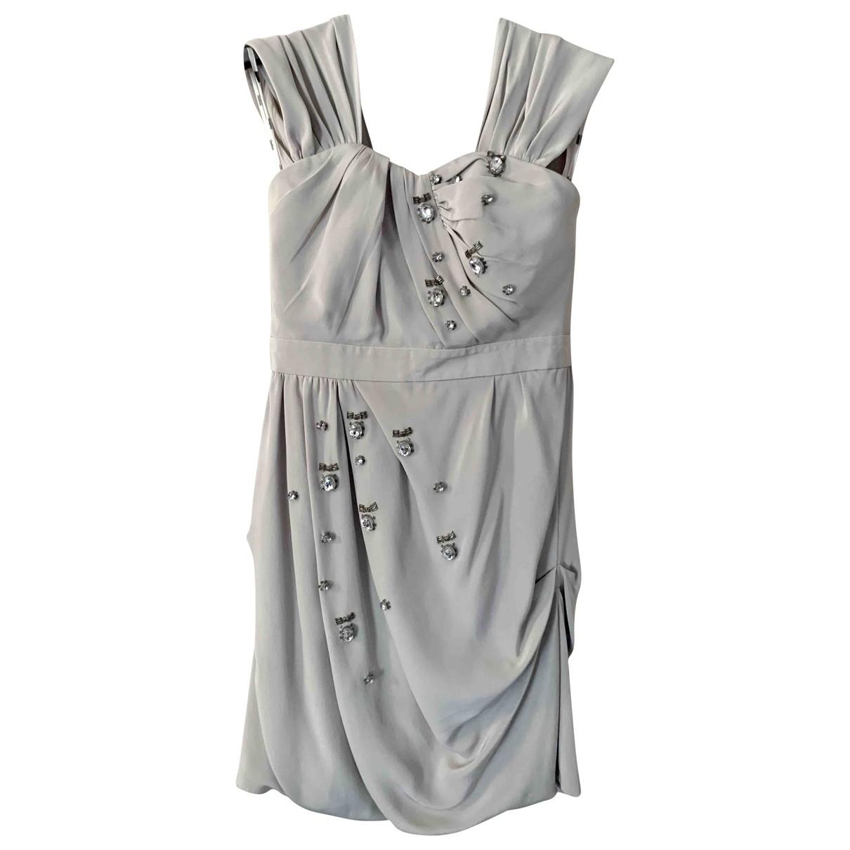 Sretsis \N Kleid in  Grau Seide