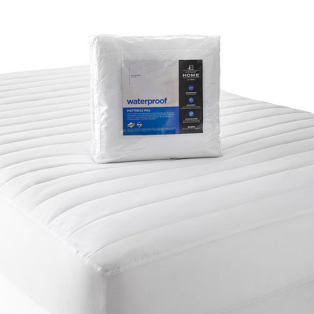 JCPenney Home Waterproof Mattress Pad, One Size , White