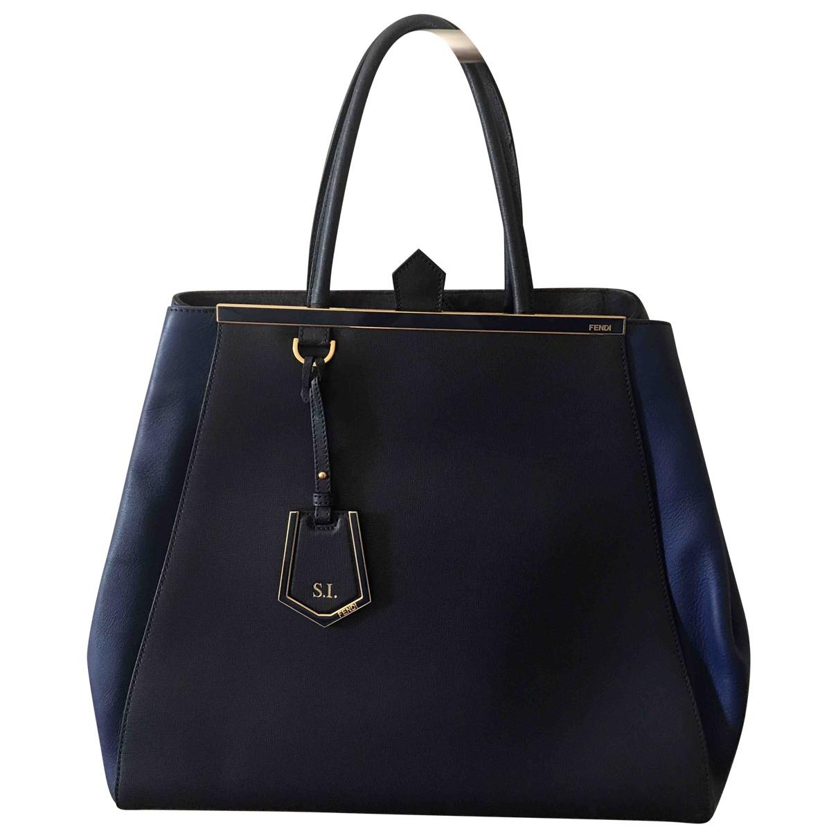 Fendi 2Jours Blue Leather handbag for Women \N