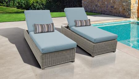 Coast Collection COAST-W-2x-SPA Set of 2 Chaises - Beige and Spa