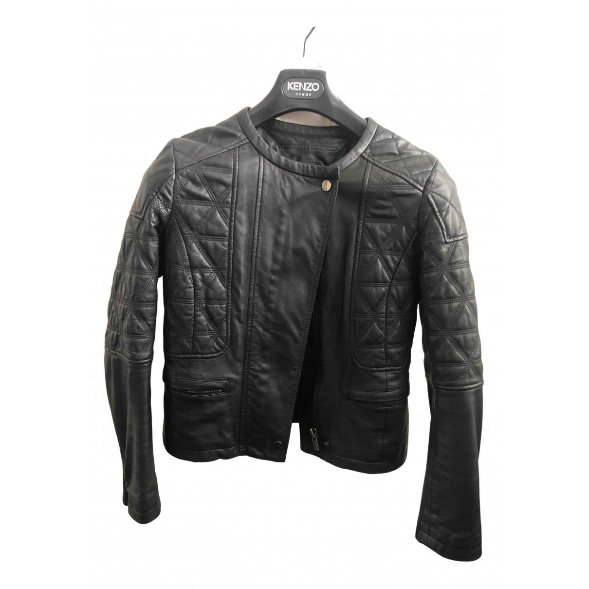Comptoir Des Cotonniers N Black Leather Leather jacket for Women 36 FR
