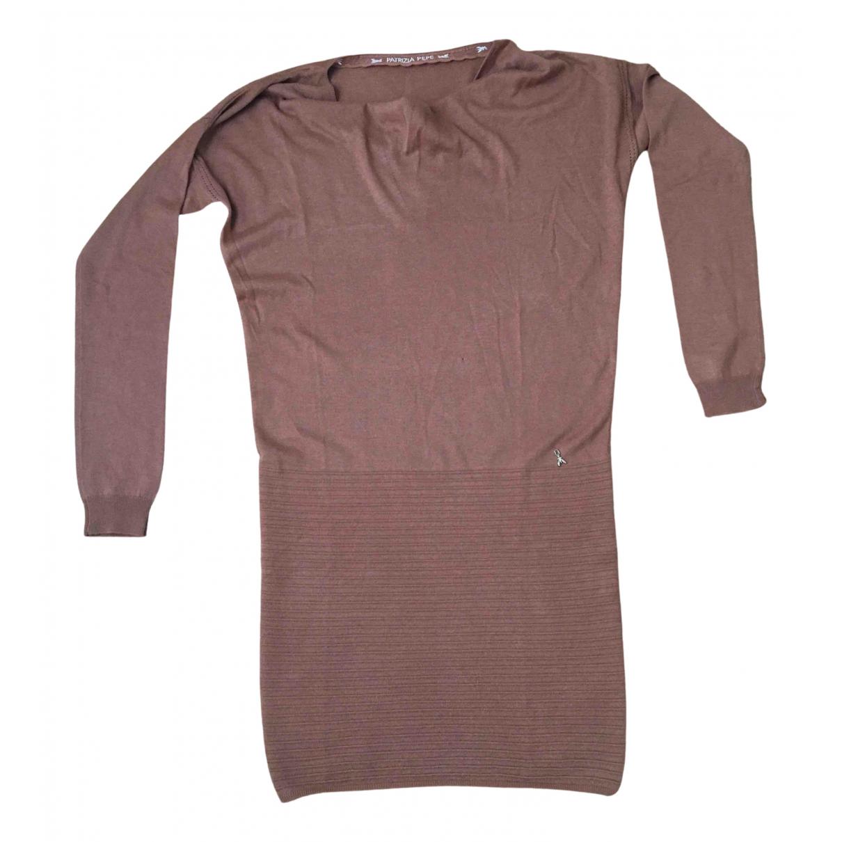 Patrizia Pepe \N Kleid in  Khaki Wolle