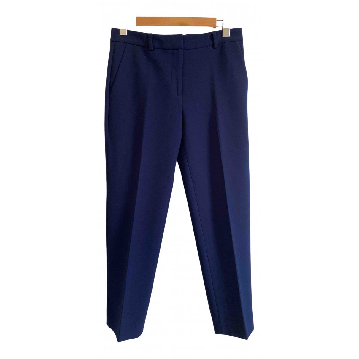 Diane Von Furstenberg \N Navy Trousers for Women 4 US
