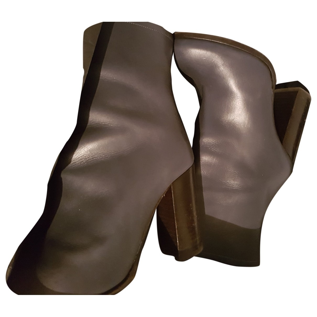 Gerard Darel \N Grey Leather Boots for Women 40 EU