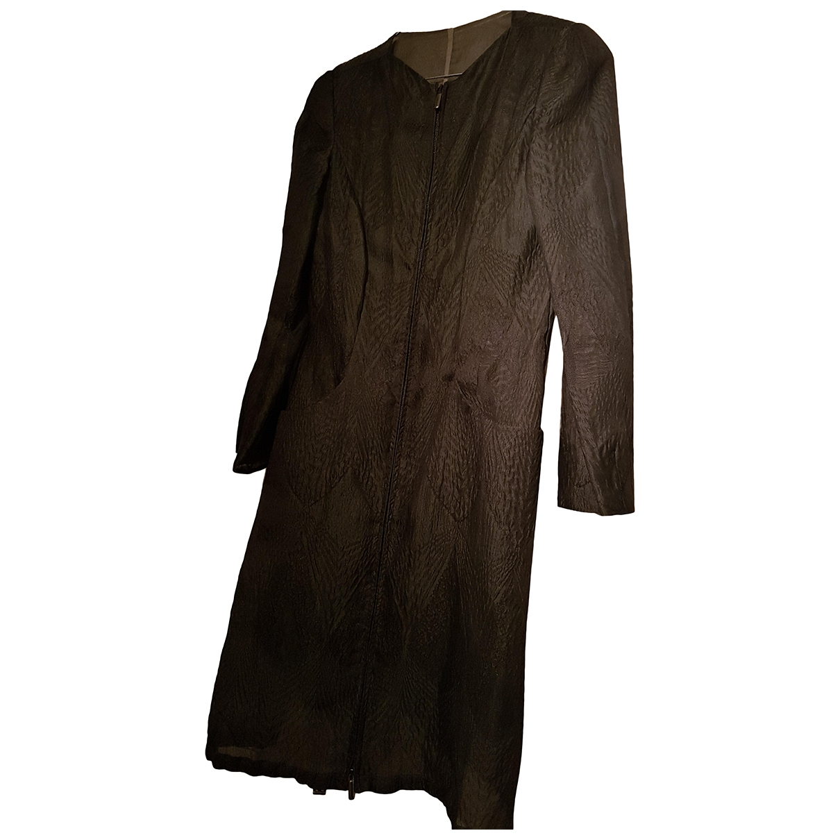 Giorgio Armani \N Brown Silk coat for Women 40 IT