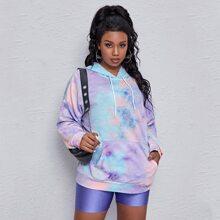 Plus Tie Dye Drop Shoulder Sweatshirt