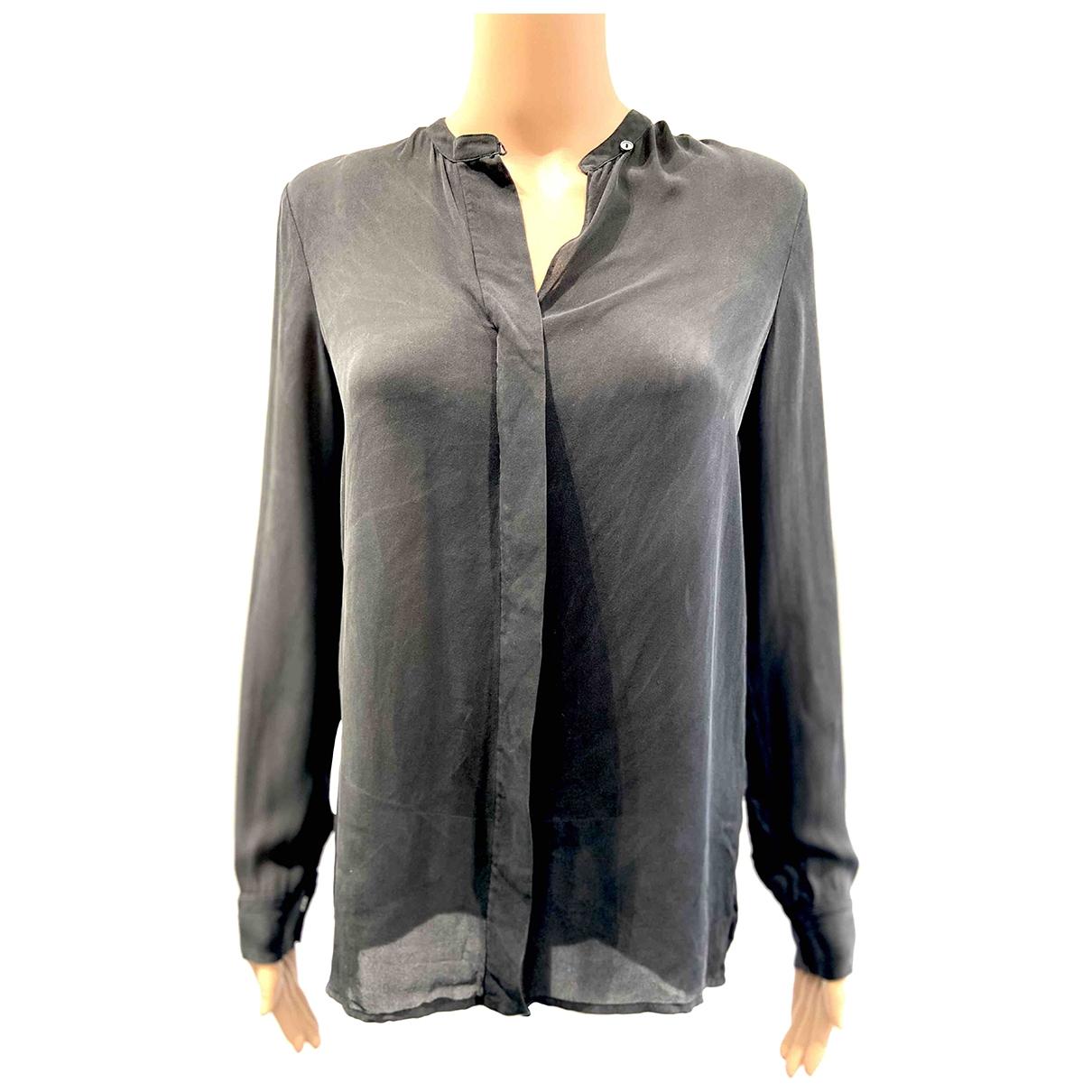 Vince - Top   pour femme en soie - noir