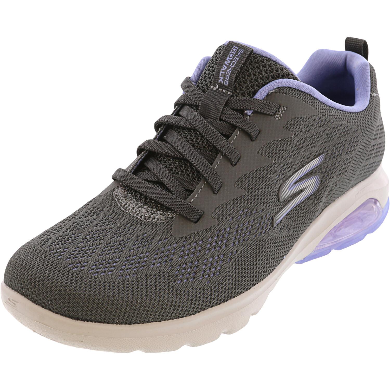 Skechers Women's Go Walk Air - Windchill Char / Lavendar Ankle-High Walking 5M