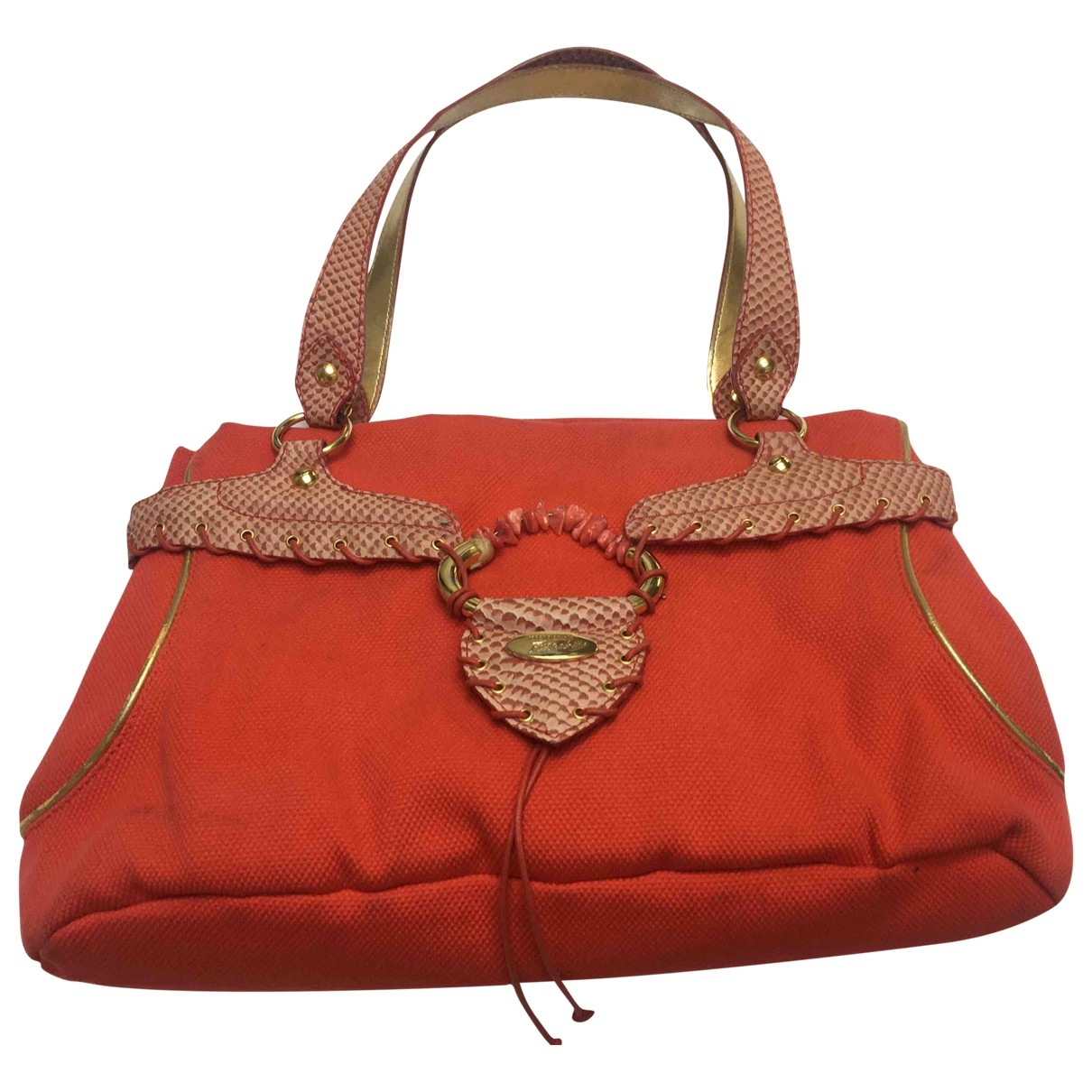 Roberto Cavalli \N Orange Cloth handbag for Women \N