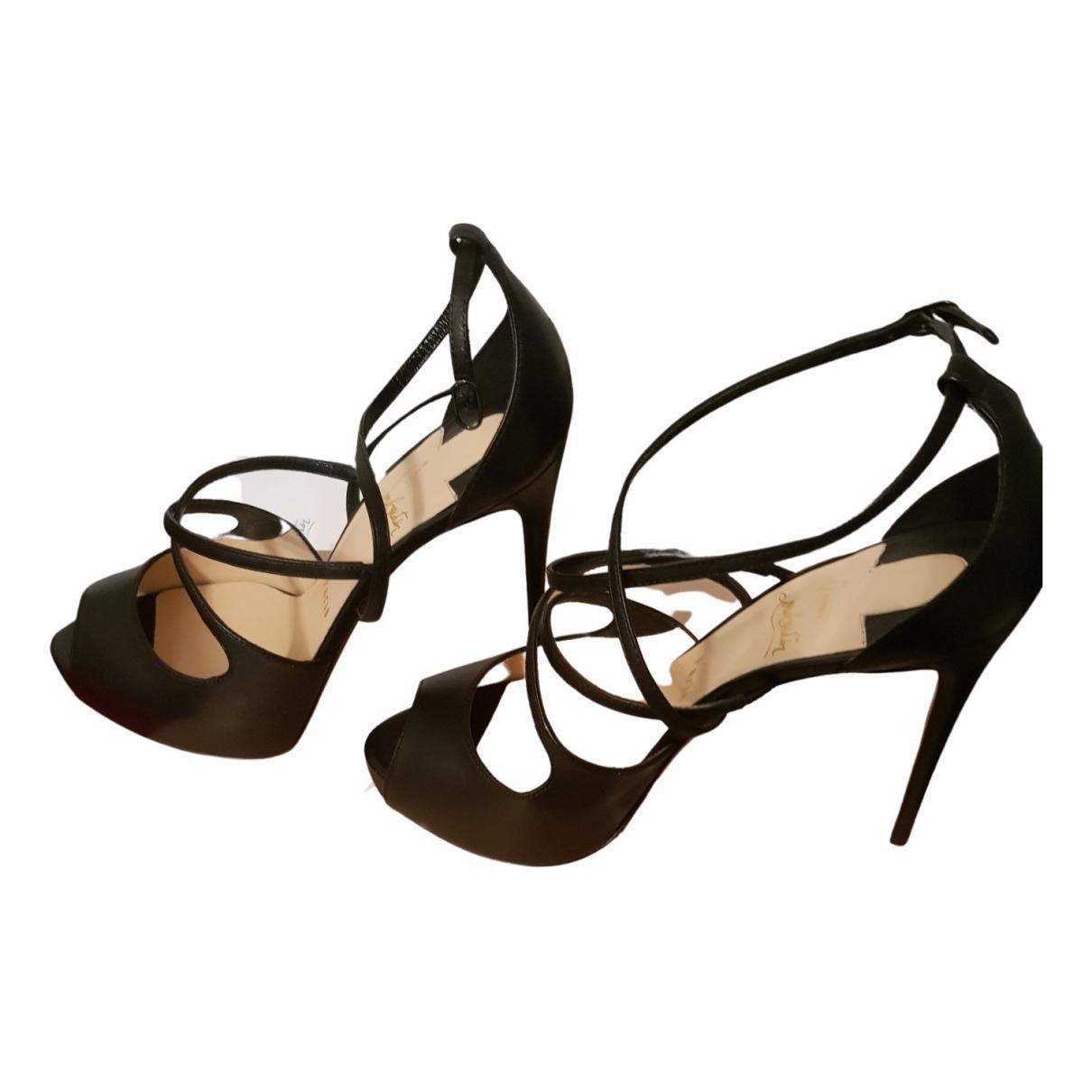 Christian Louboutin - Sandales   pour femme en cuir - noir